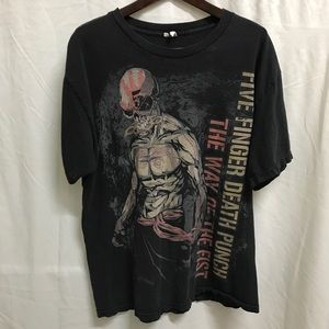 Five Finger Death Punch T-Shirt Men's Size Large